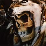 skull malowanie aerografem