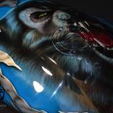 malowanie aerografem motocykli wilkołak aerografix