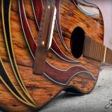 malowanie aerografem gitara-