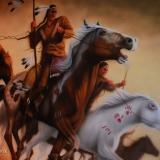 aerograf koń indianin malowanie śląsk