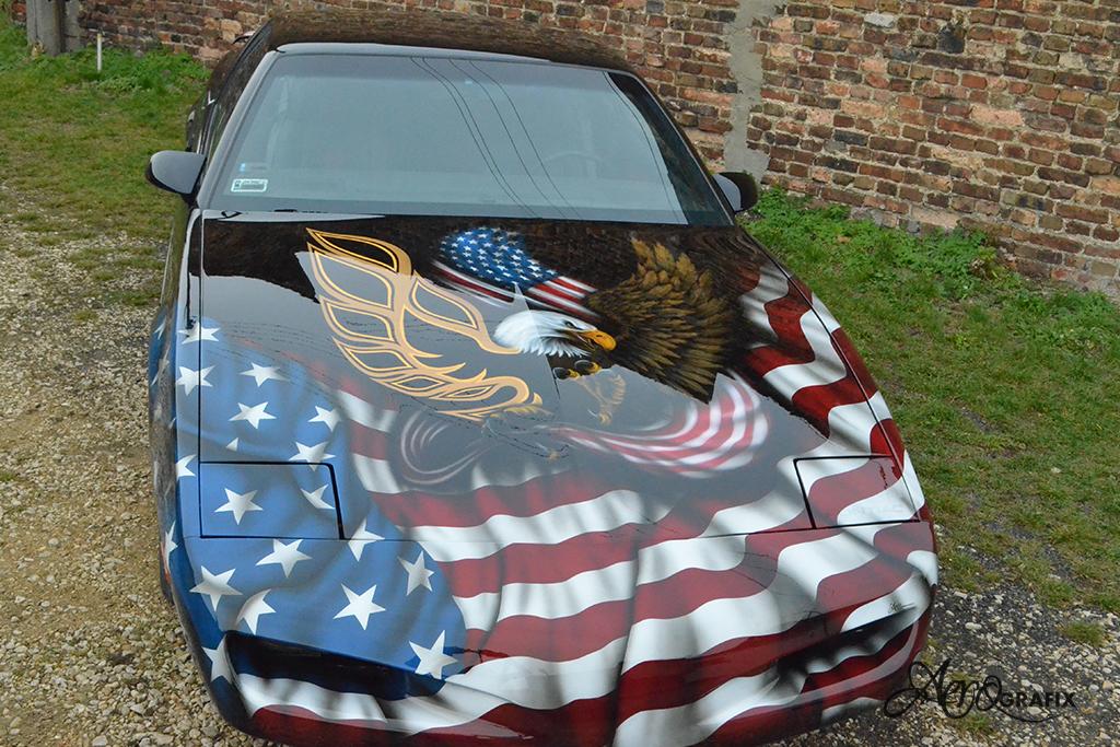pontiac firebird aerograf malowanie samochodów