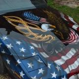 flaga amerykanska aerograf malowanie pontiac