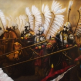 malowanie aerografem śląsk husaria koń